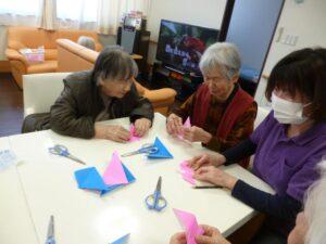2月のBIRTHDAYと折り紙教室